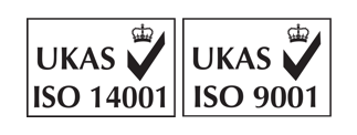 UKAS Logo ISO 14001 and 9001