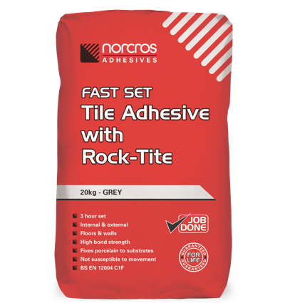 Fast Set Tile Adhesive with Rock-Tite - Grey