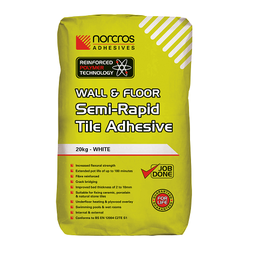 Extended pot life from new Norcros Semi-Rapid S1 Adhesive